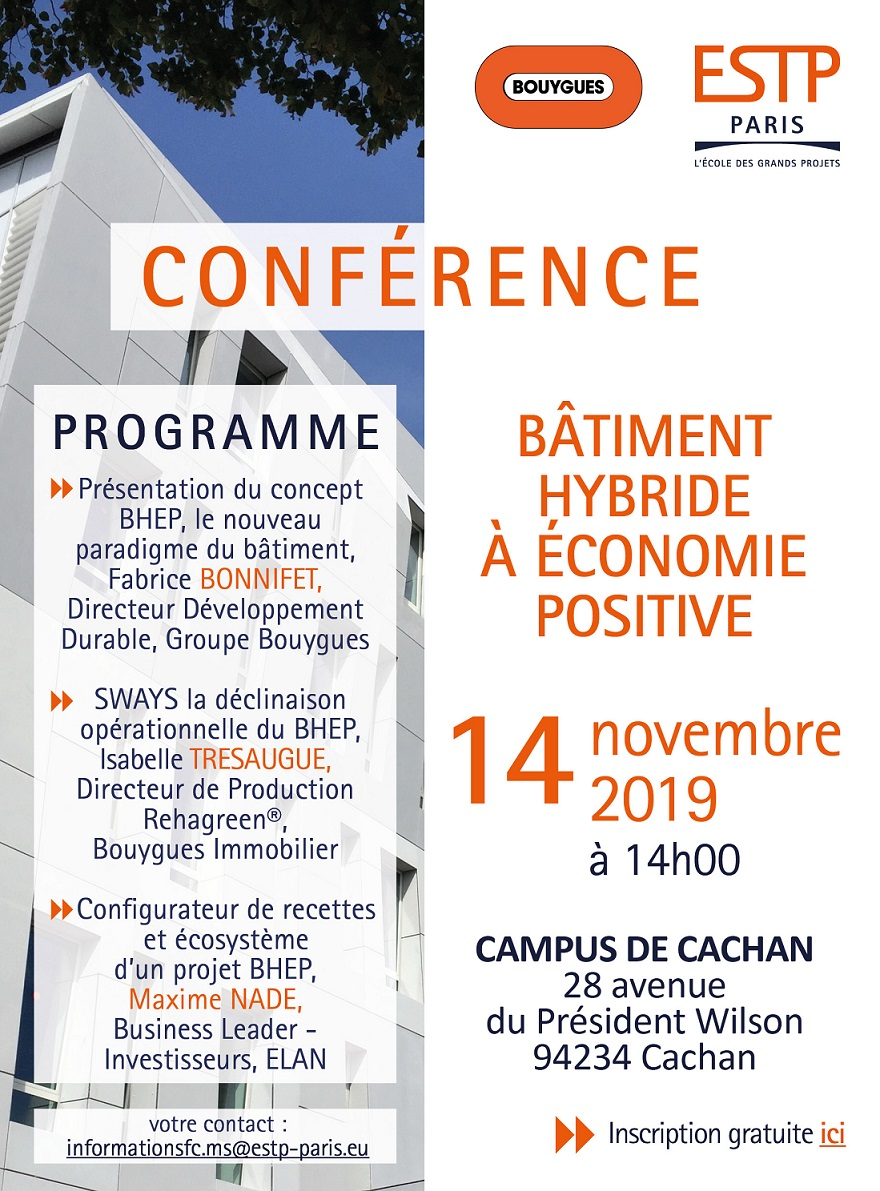 ESTP Paris invitation conf BHEP